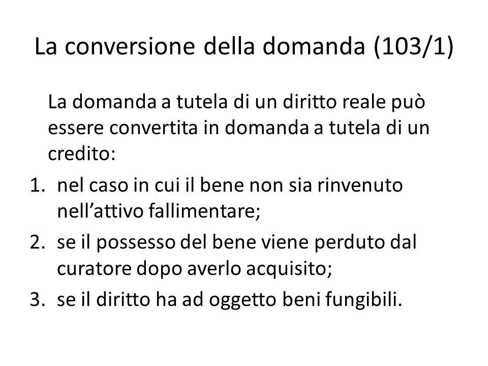 La conversione della domanda (103/1)