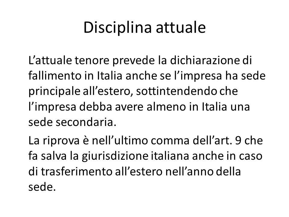 Disciplina attuale