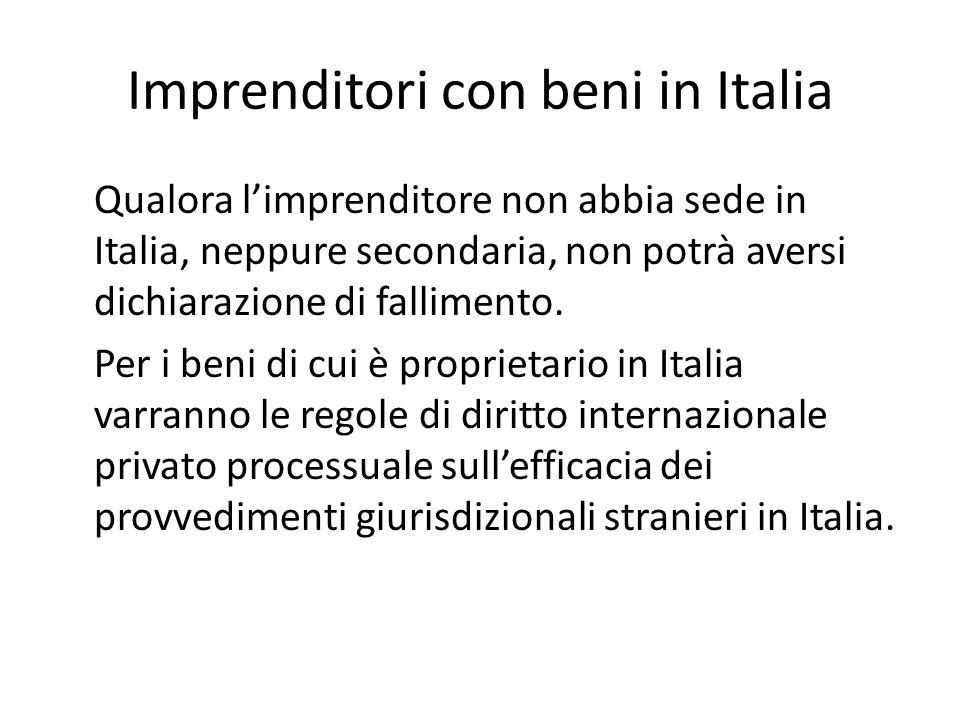 Imprenditori con beni in Italia