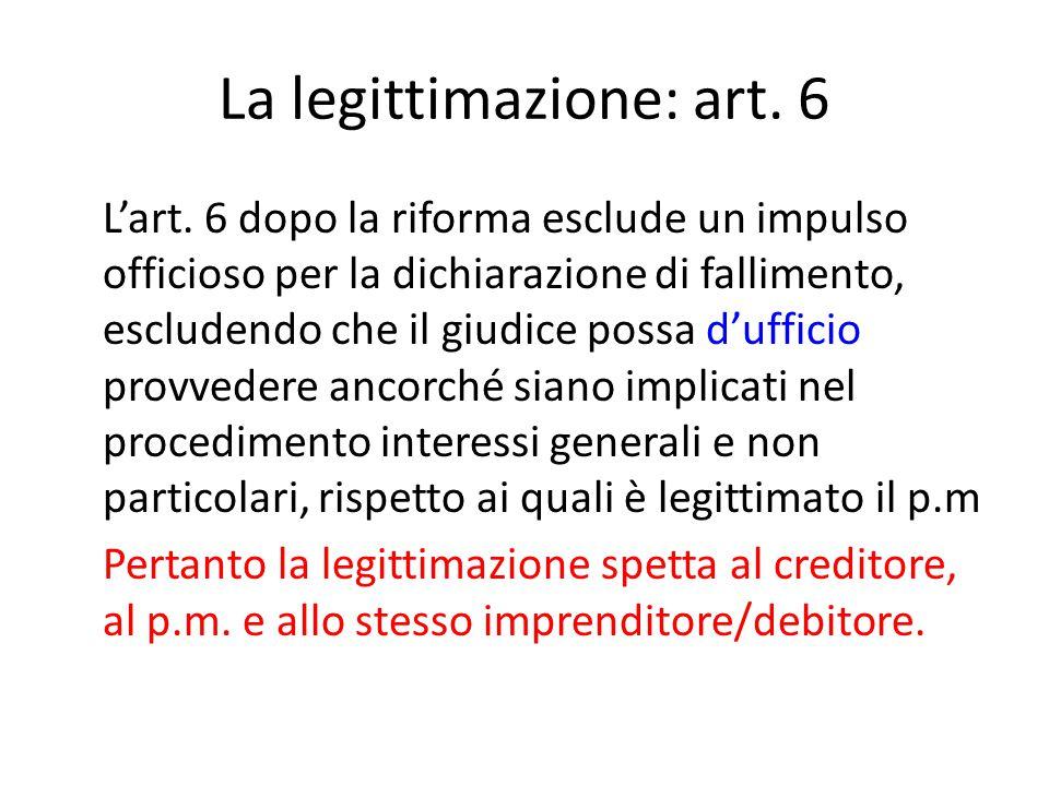 La legittimazione: art. 6