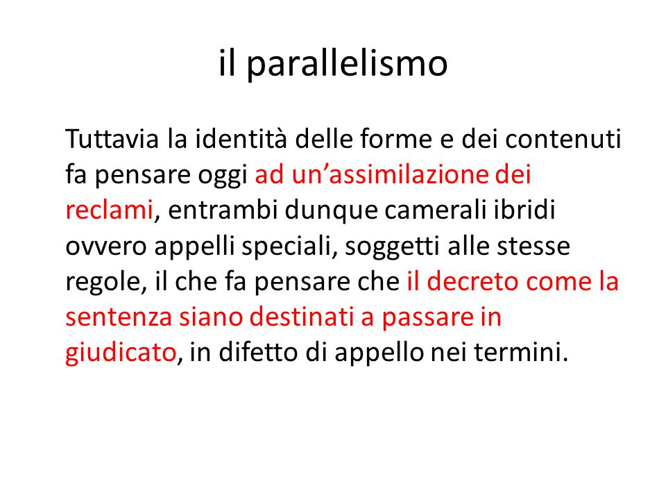 il parallelismo
