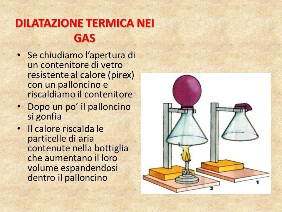 DILATAZIONE TERMICA NEI GAS