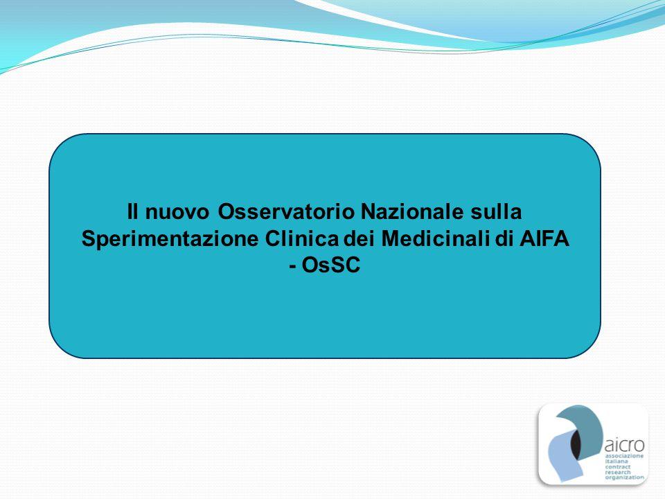 Il nuovo Osservatorio Nazionale sulla Sperimentazione Clinica dei Medicinali di AIFA - OsSC