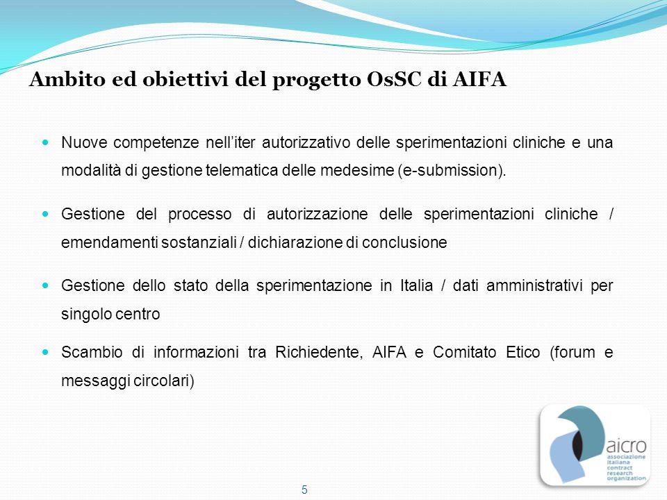 Ambito ed obiettivi del progetto OsSC di AIFA