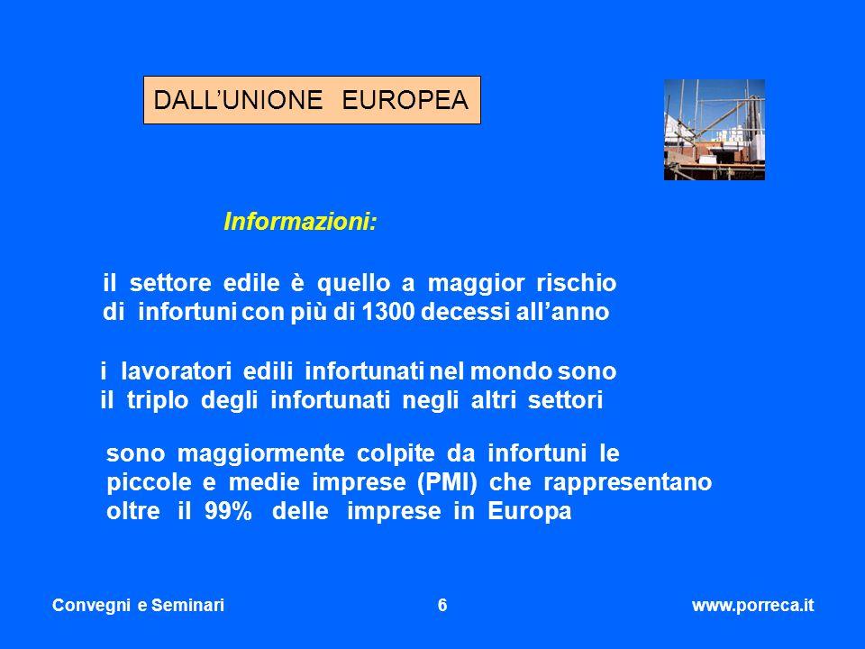 DALL'UNIONE EUROPEA Informazioni: