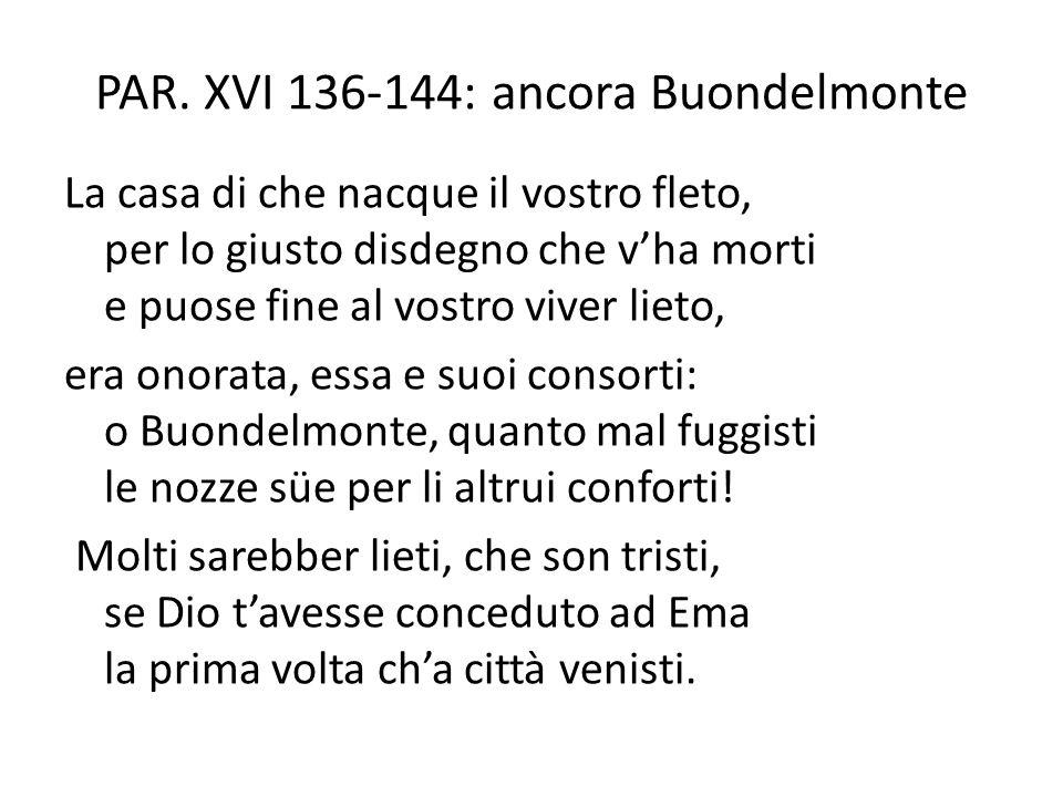 PAR. XVI 136-144: ancora Buondelmonte