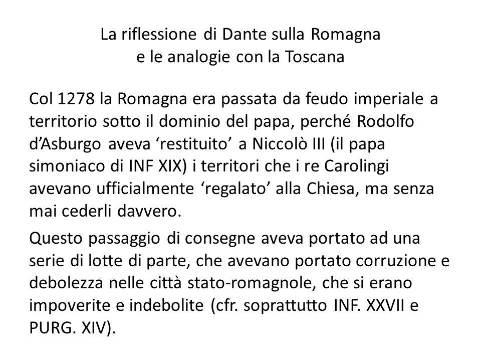 La riflessione di Dante sulla Romagna e le analogie con la Toscana