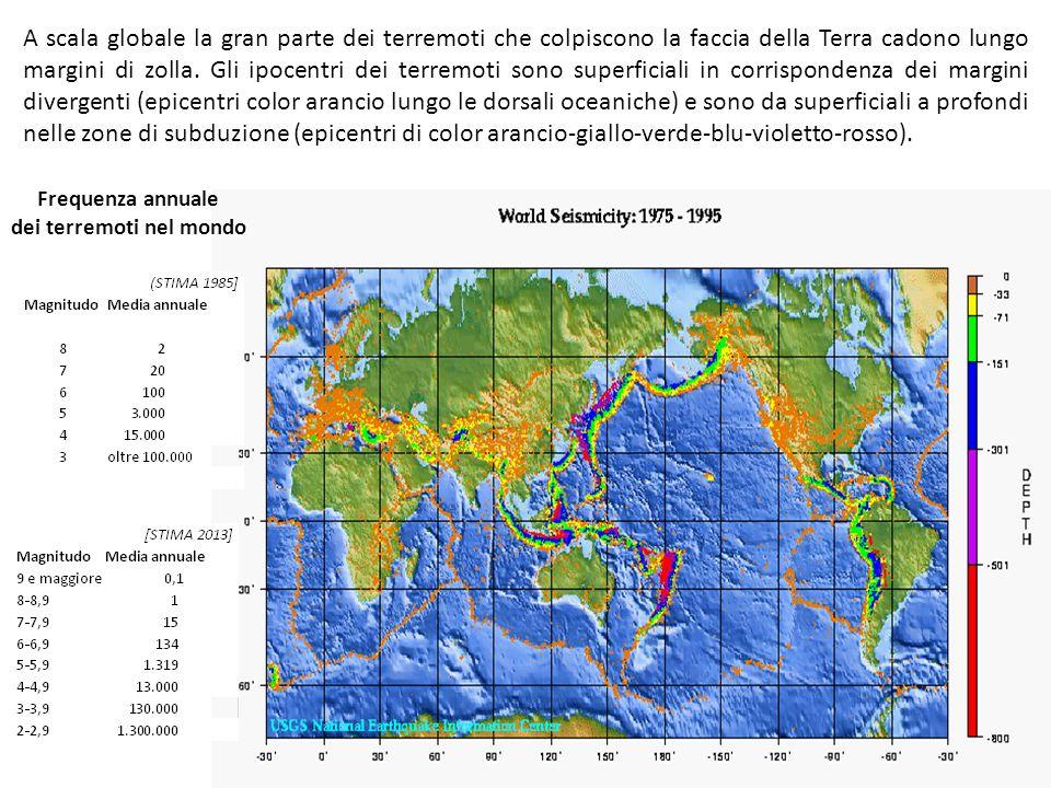 dei terremoti nel mondo