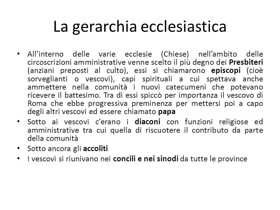 La gerarchia ecclesiastica