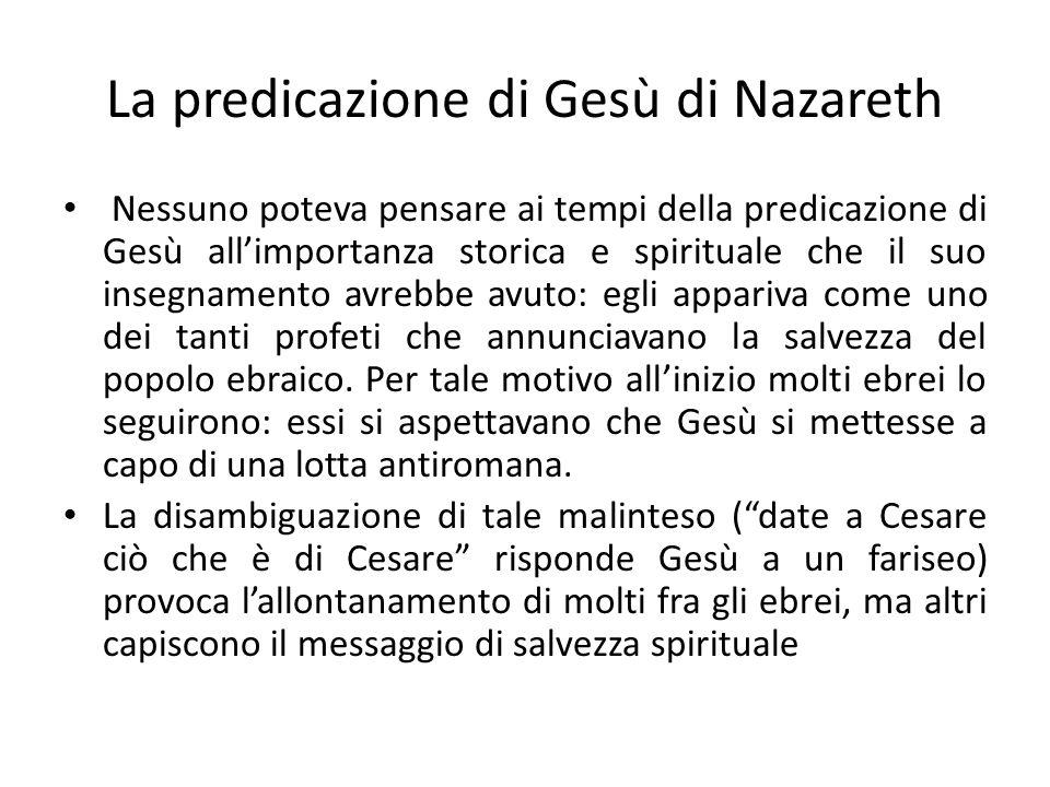 La predicazione di Gesù di Nazareth