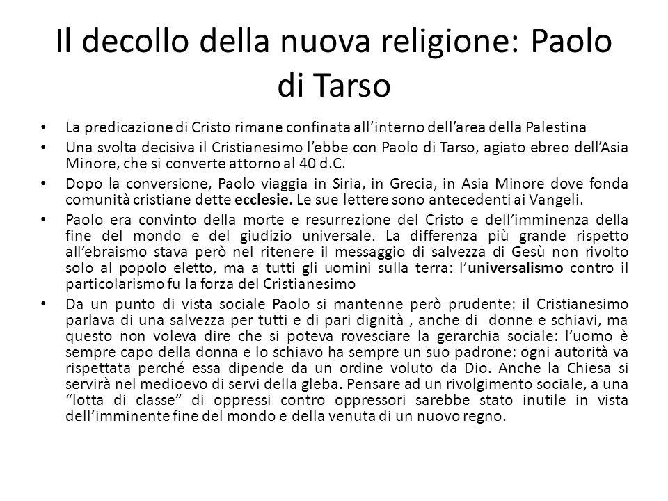 Il decollo della nuova religione: Paolo di Tarso