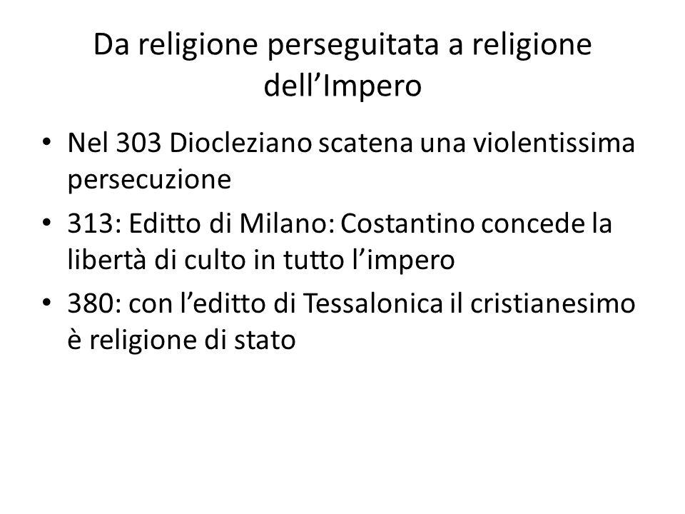 Da religione perseguitata a religione dell'Impero