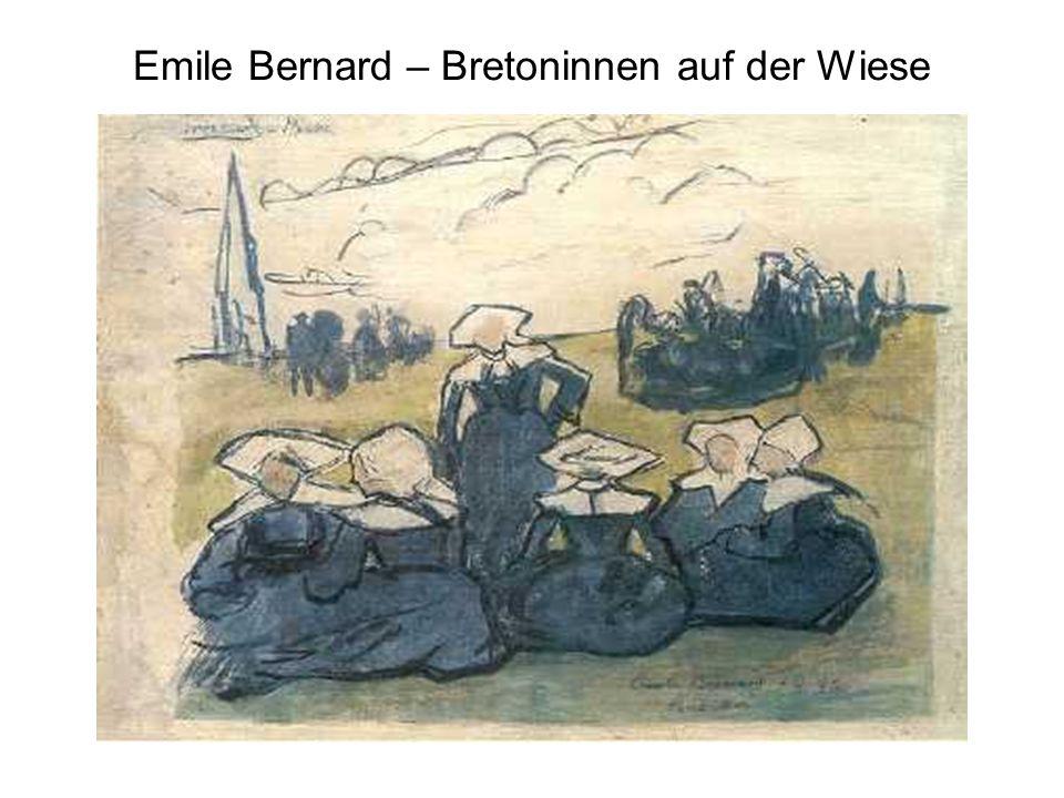 Emile Bernard – Bretoninnen auf der Wiese