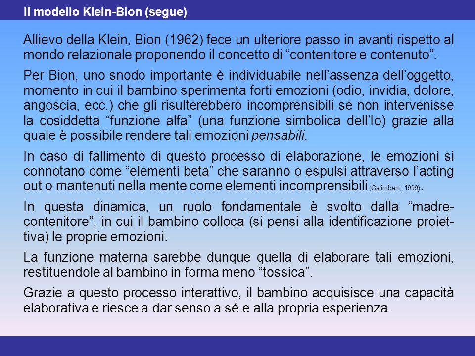 Il modello Klein-Bion (segue)