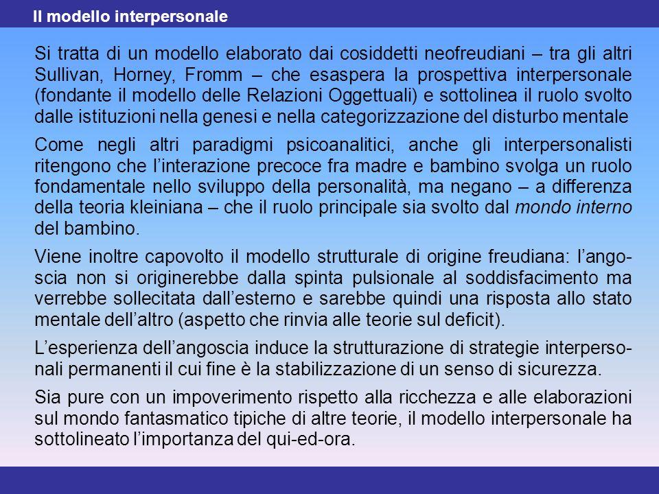 Il modello interpersonale