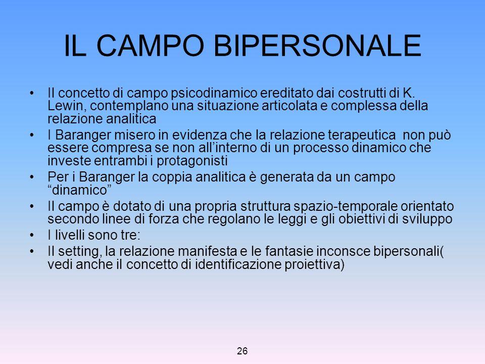 IL CAMPO BIPERSONALE