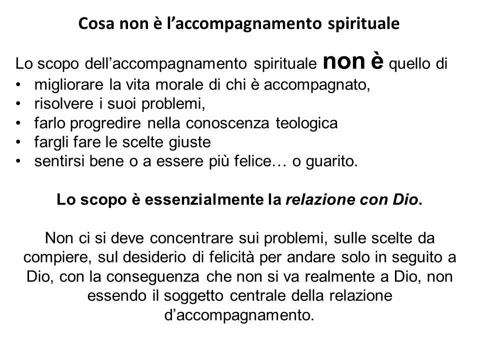 Cosa non è l'accompagnamento spirituale
