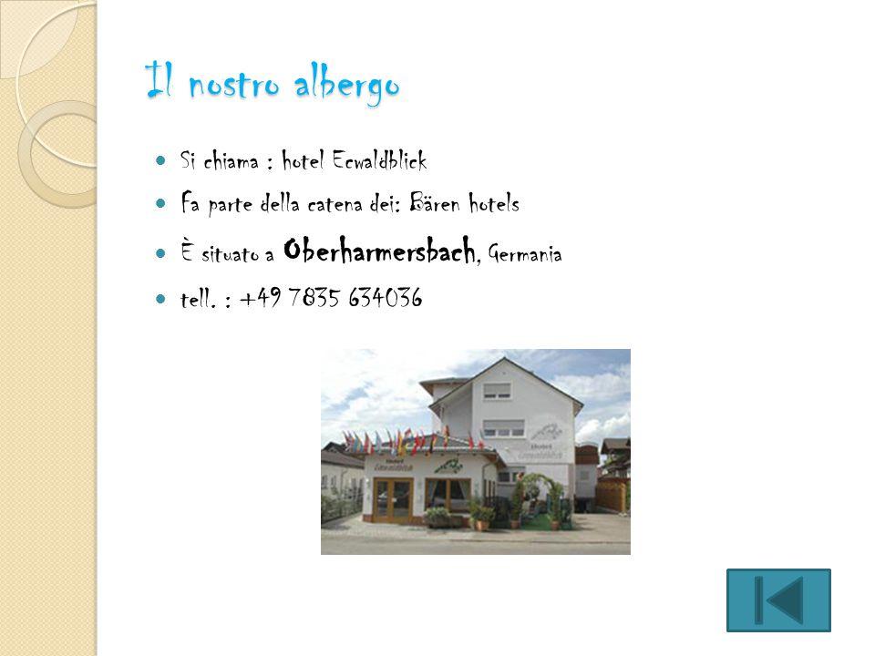Il nostro albergo Si chiama : hotel Ecwaldblick