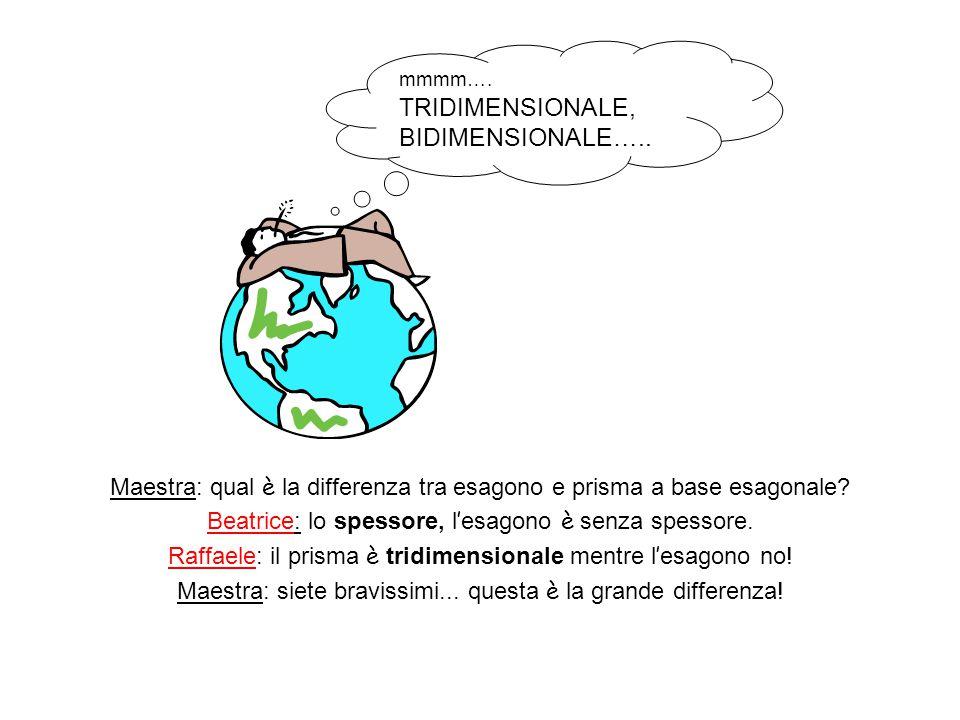 Maestra: qual è la differenza tra esagono e prisma a base esagonale
