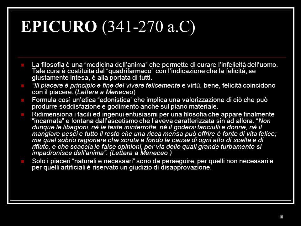EPICURO (341-270 a.C)