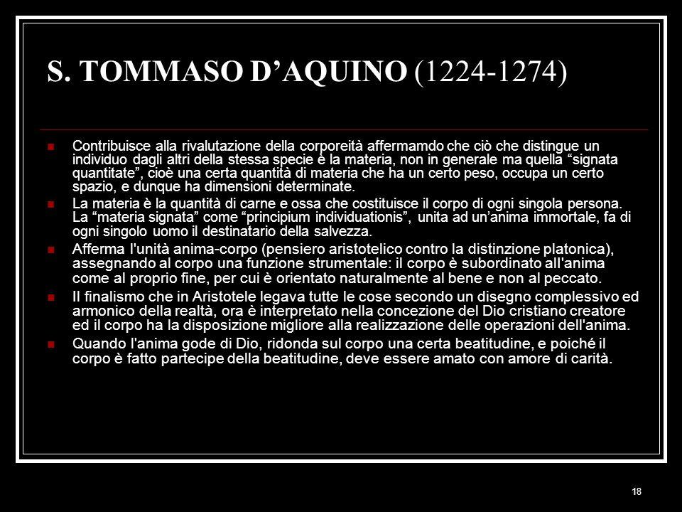 S. TOMMASO D'AQUINO (1224-1274)