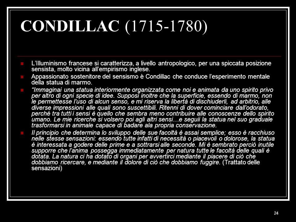 CONDILLAC (1715-1780)