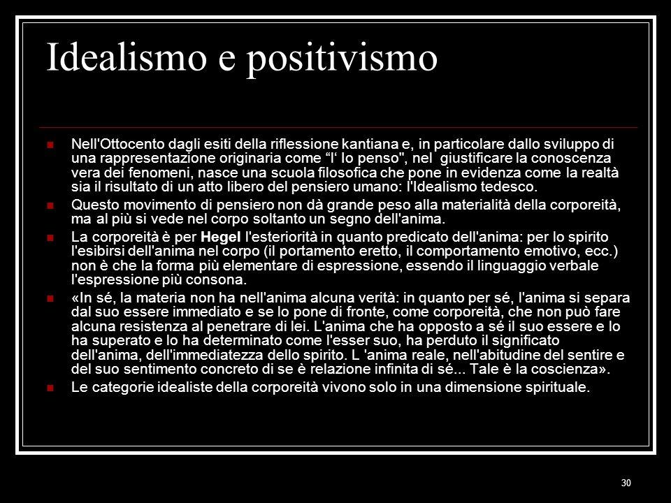 Idealismo e positivismo