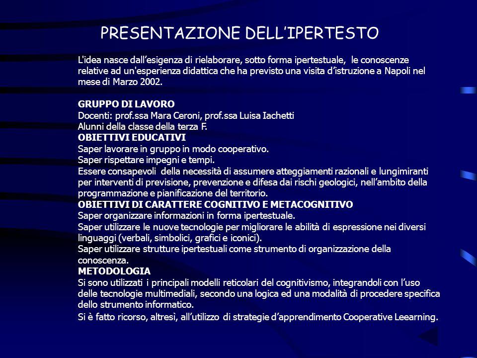 PRESENTAZIONE DELL'IPERTESTO