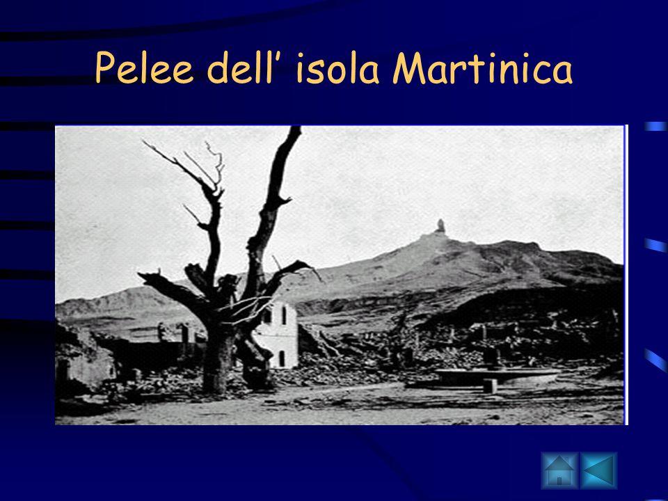 Pelee dell' isola Martinica