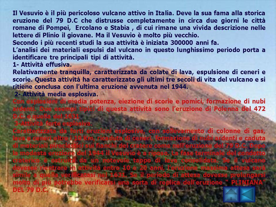 Il Vesuvio è il più pericoloso vulcano attivo in Italia
