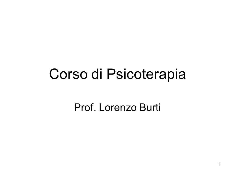 Corso di Psicoterapia Prof. Lorenzo Burti