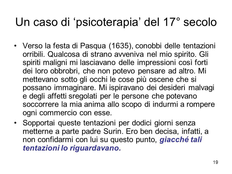 Un caso di 'psicoterapia' del 17° secolo