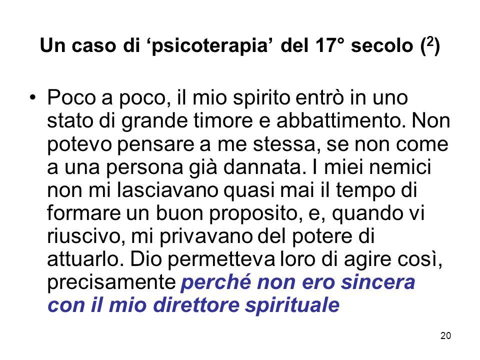 Un caso di 'psicoterapia' del 17° secolo (2)