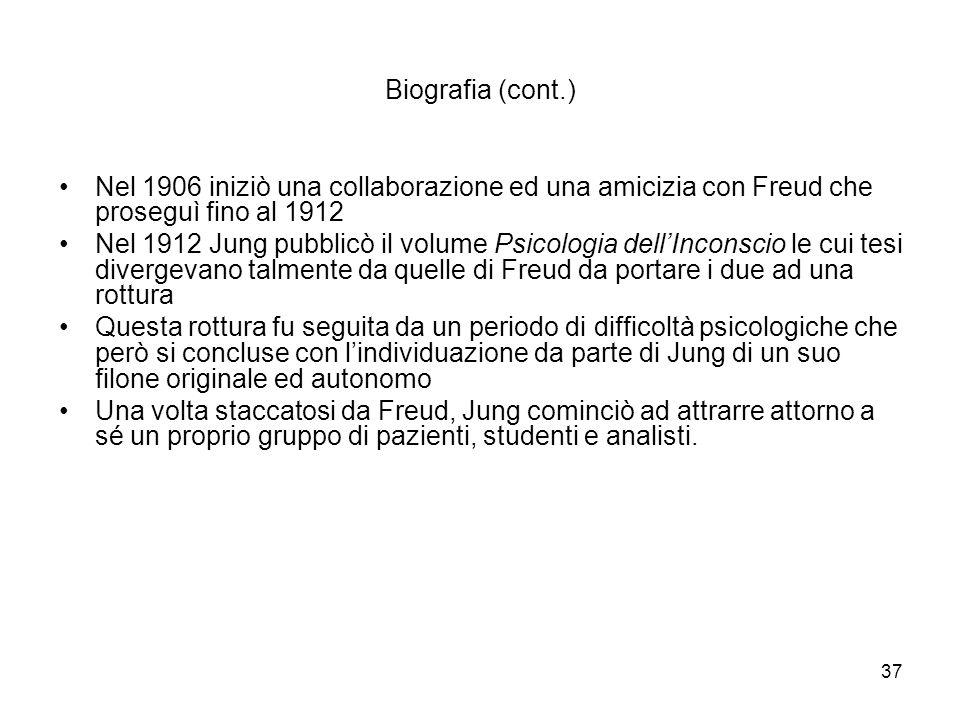 Biografia (cont.) Nel 1906 iniziò una collaborazione ed una amicizia con Freud che proseguì fino al 1912.