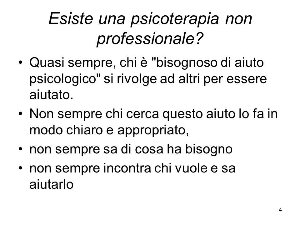 Esiste una psicoterapia non professionale