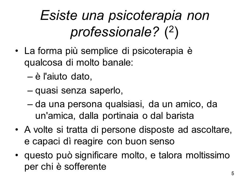 Esiste una psicoterapia non professionale (2)