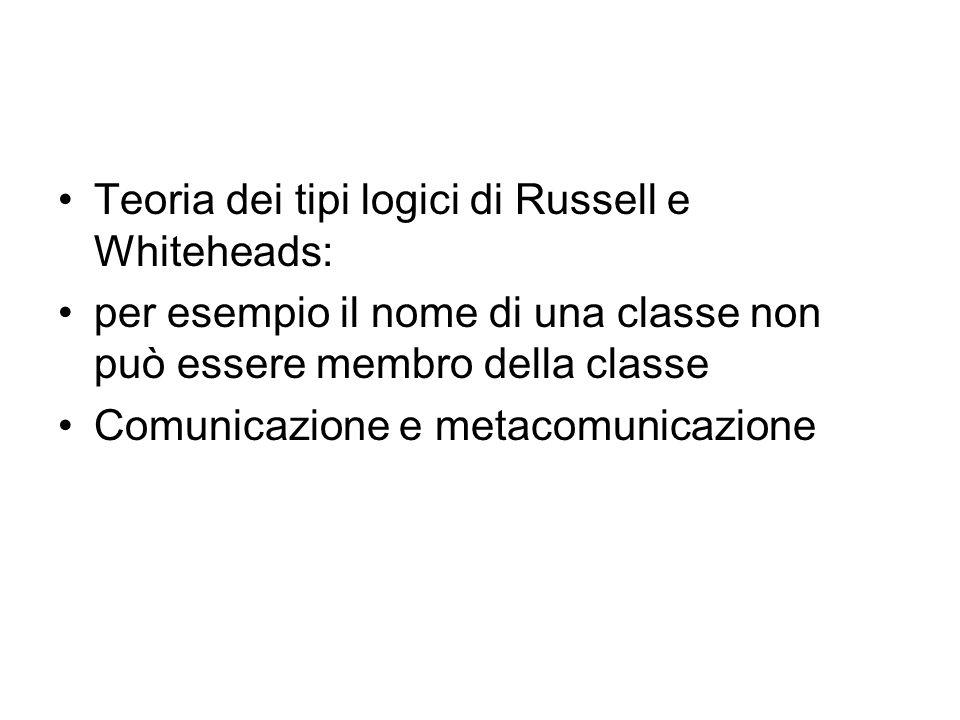 Teoria dei tipi logici di Russell e Whiteheads: