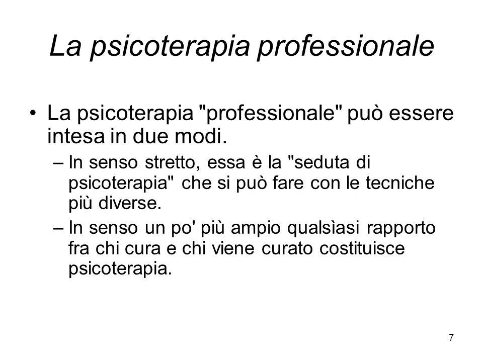 La psicoterapia professionale