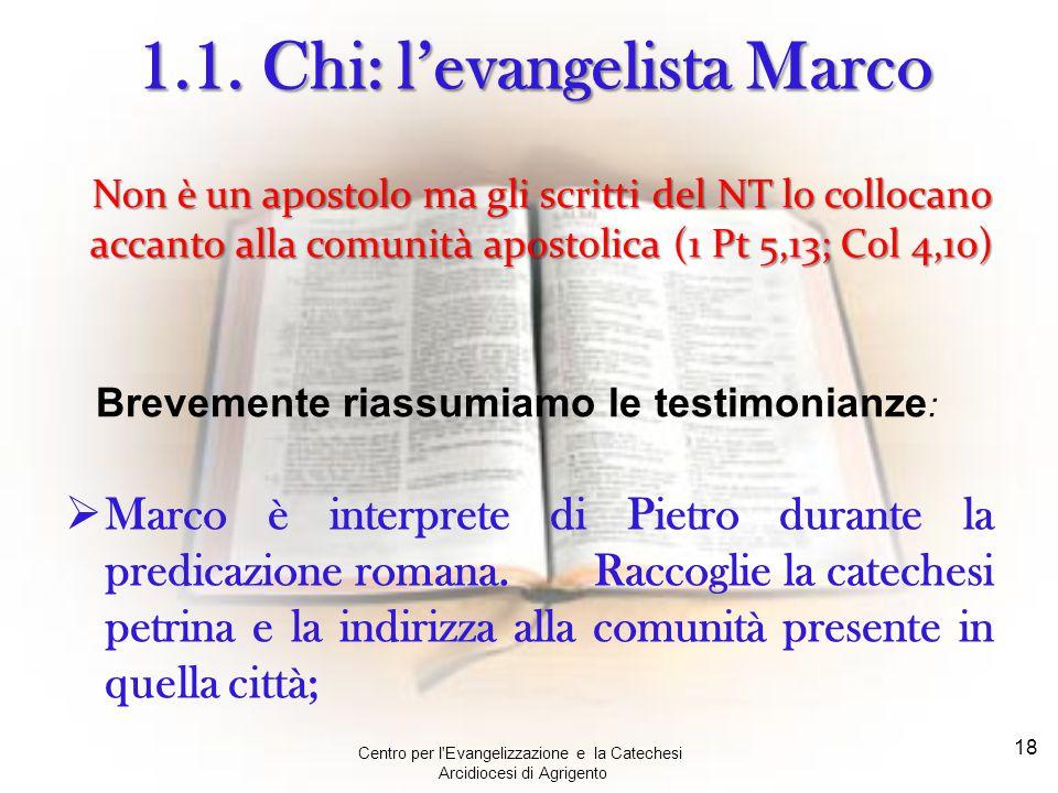 1.1. Chi: l'evangelista Marco
