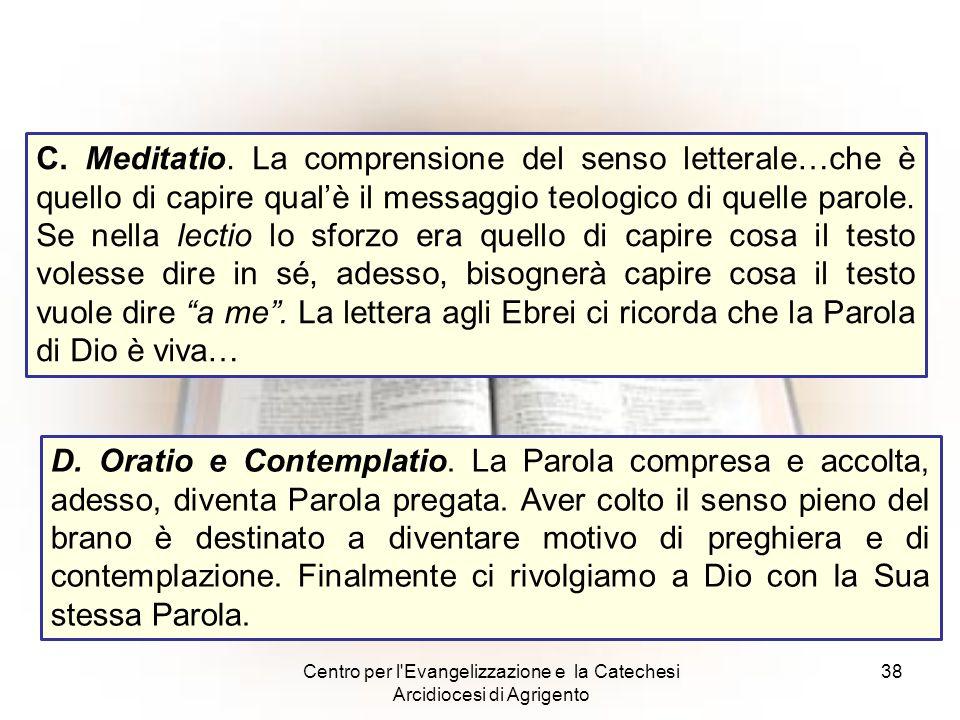 Centro per l Evangelizzazione e la Catechesi Arcidiocesi di Agrigento
