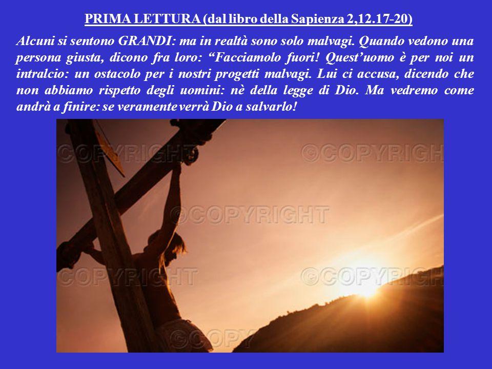PRIMA LETTURA (dal libro della Sapienza 2,12.17-20)
