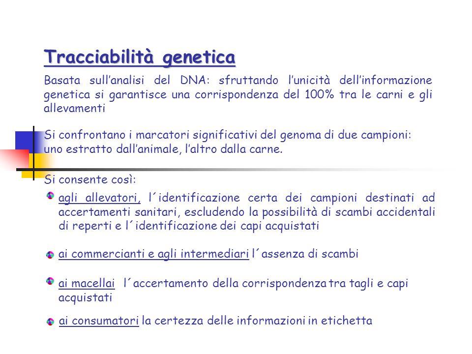 Tracciabilità genetica