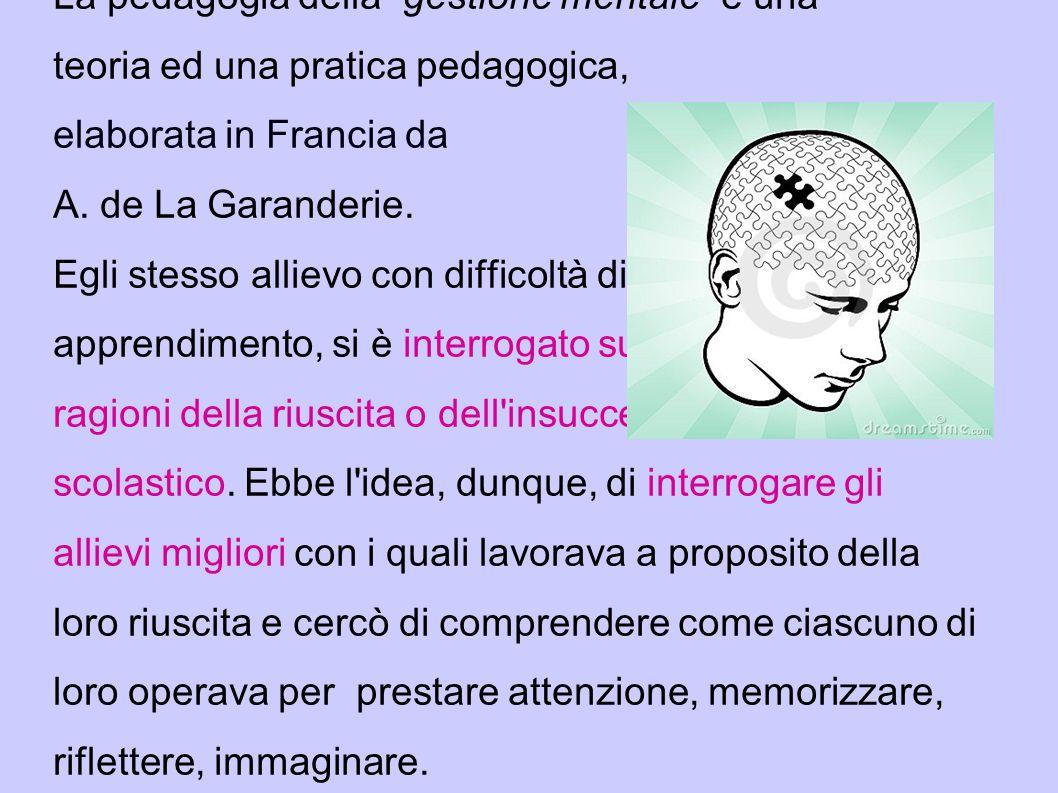 La pedagogia della gestione mentale è una teoria ed una pratica pedagogica, elaborata in Francia da A.