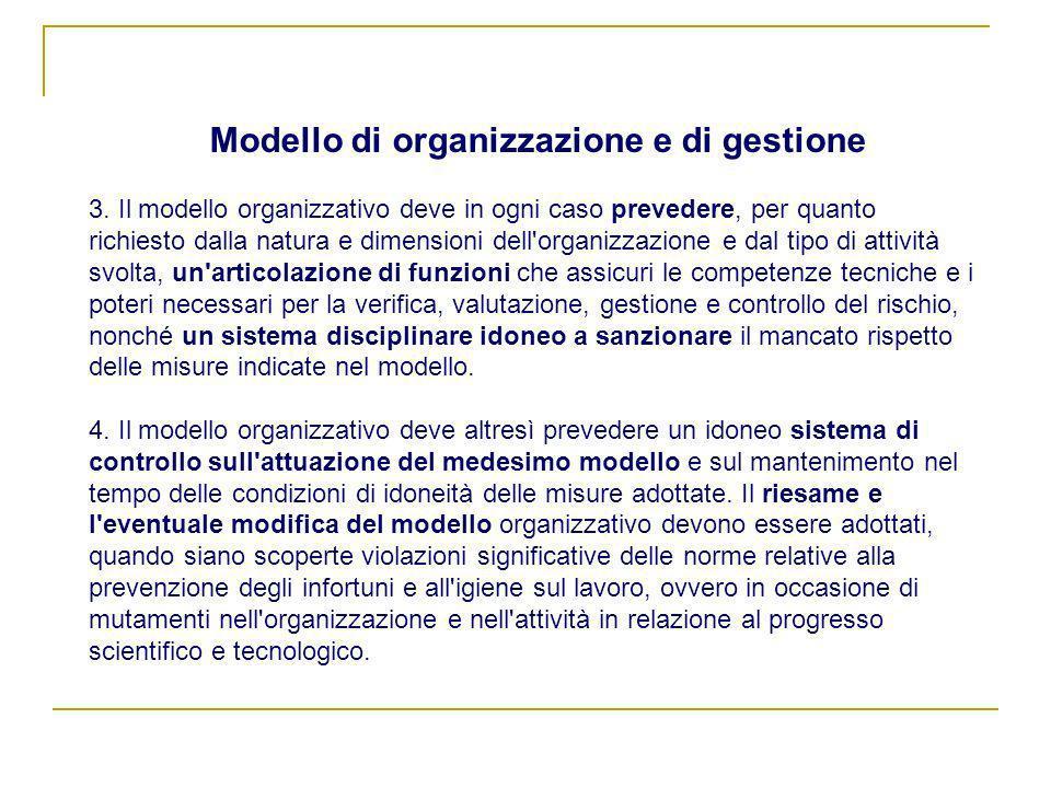Modello di organizzazione e di gestione