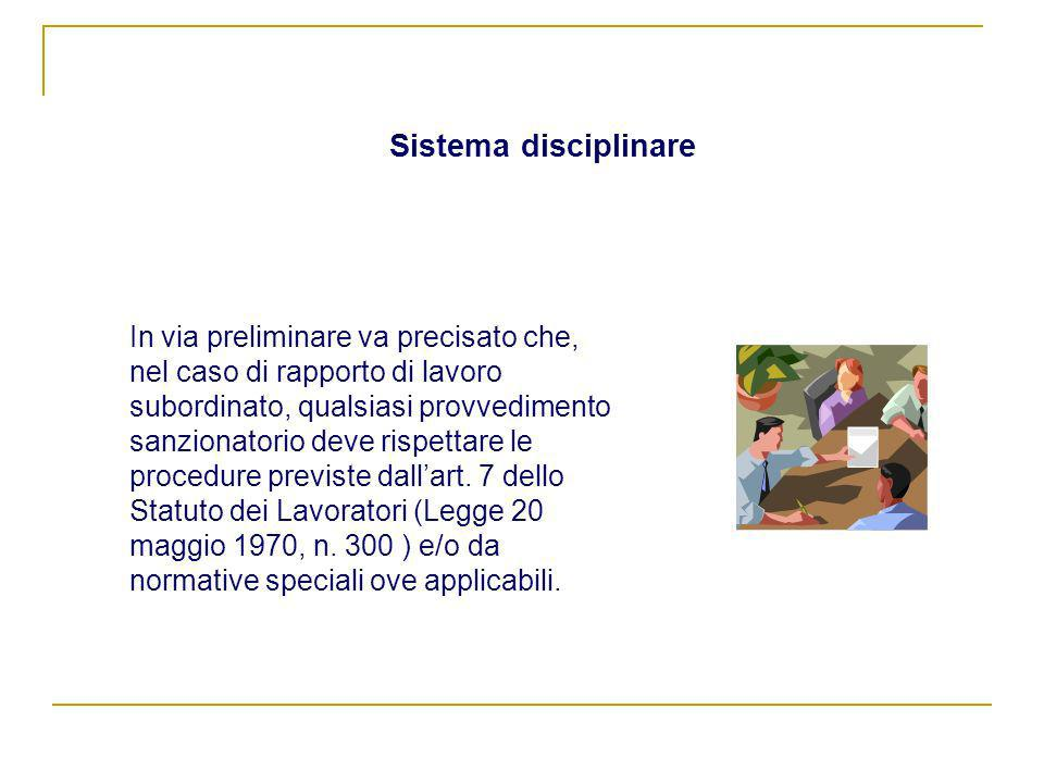 Sistema disciplinare