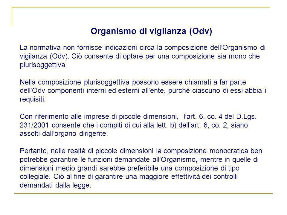 Organismo di vigilanza (Odv)
