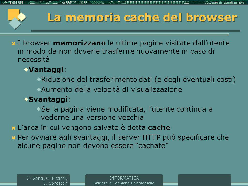La memoria cache del browser