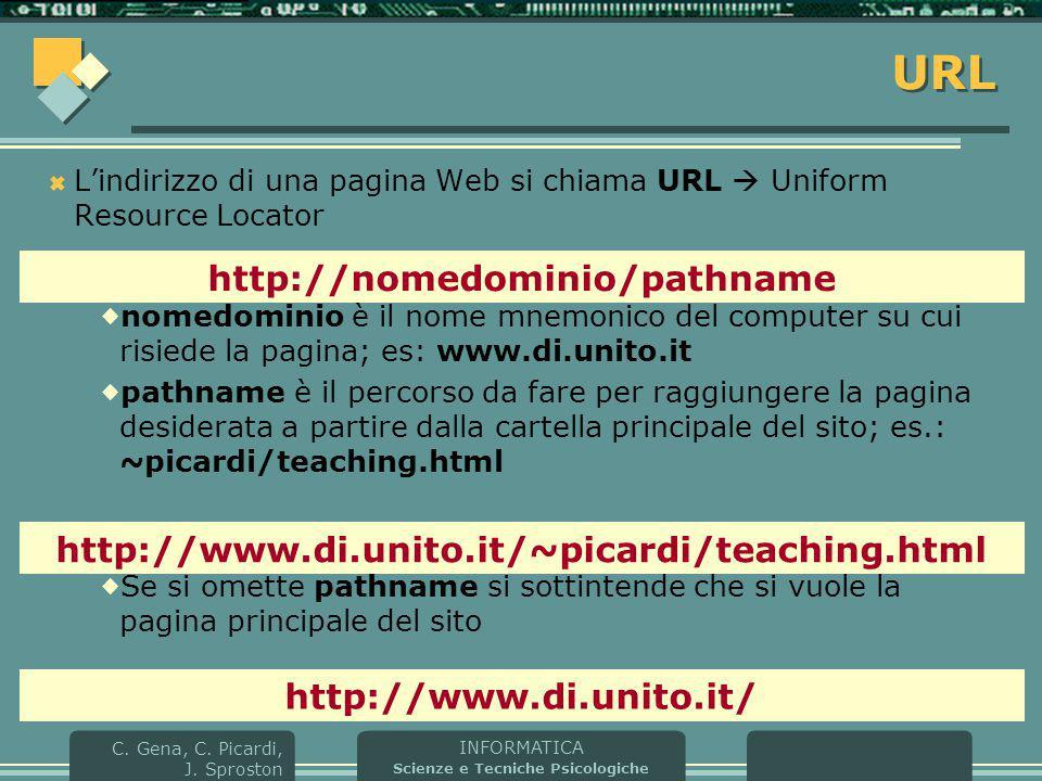 URL http://nomedominio/pathname