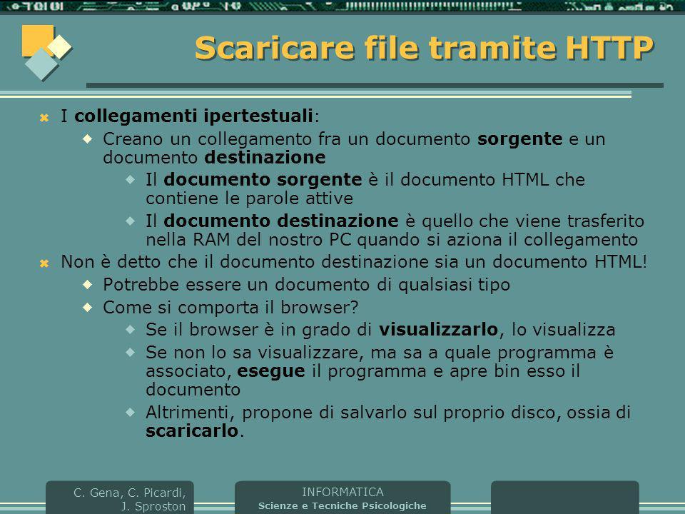 Scaricare file tramite HTTP