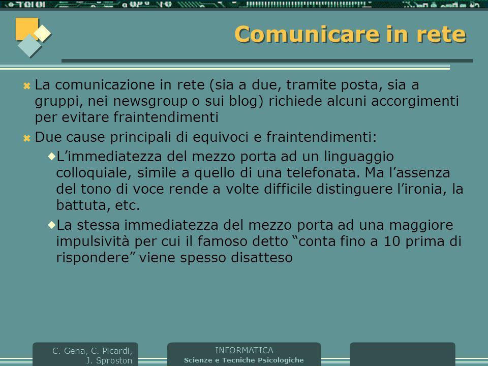 Comunicare in rete